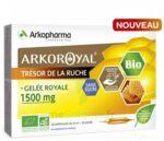 Arkoroyal Gelée royale bio sans sucre 1500mg Solution buvable 20 Ampoules/10ml à VALS-LES-BAINS
