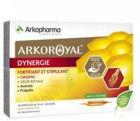 Arkoroyal Dynergie Ginseng Gelée Royale Propolis Solution Buvable 20 Ampoules/10ml à VALS-LES-BAINS