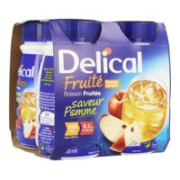 Delical Boisson Fruitee Nutriment Pomme 4bouteilles/200ml à VALS-LES-BAINS