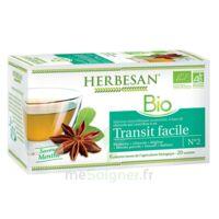 Herbesan Infusion Bio Tisane transit facile 20 Sachets à VALS-LES-BAINS