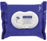 Klorane Soins des Yeux au Bleuet Lingette démaquillante biodégradable Pack/25 à VALS-LES-BAINS