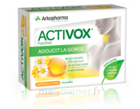 Activox Sans Sucre Pastilles Miel Citron B/24 à VALS-LES-BAINS