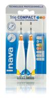 Inava Brossettes Trio Compact Mixte 123 Bleu 0,8mm/ Jaune 1mm/ Orange 1,2mm à VALS-LES-BAINS